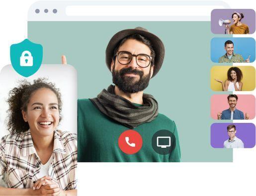 secured mobile and desktop screens sharing
